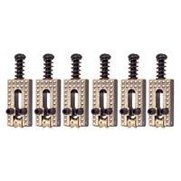 Set of 6 Copper Roller Bridge Tremolo Saddles for ST TL Style Guitar Parts