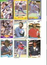 18 CARD PASCUAL PEREZ BASEBALL CARD LOT !  94