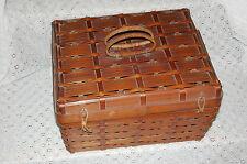 Vintage Sewing Reed Basket-OLD-Large