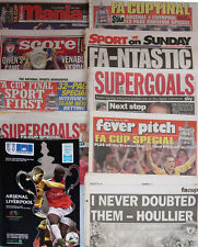 Arsenal  v Liverpool 2001 FA Cup Final Programme with newspaper supplements