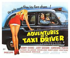 VINTAGE ADVENTURES OF A TAXI DRIVER MOVIE POSTER A4 PRINT