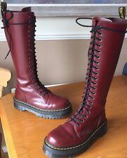 Dr Martens Britain cherry red smooth leather jadon boots UK 5 EU 38 kawaii punk