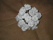 Vintage Venice Lace Flowers on Wire white or ivory