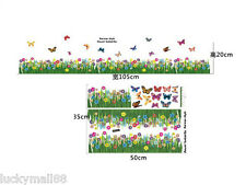 Floral Ladybug Vinyl Removable Kid Room Decor Wall Sticker Decal Mural Butterfly