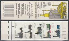 US 1987 ☀ steam locomotives 22c x 20v ☀ 1v booklet MNH complete $ 4.40