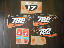KTM SXF 250 350 450 SX-F DECALS GRAPHICS 2016 2017 SHROUDS NUMBER PLATE FORK