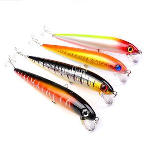 4PCS Fishing Big Pencil Popper Minnow Fish Bass lure hook baits 18cm/25g