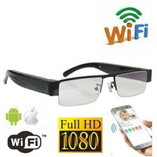 Wi-Fi HD1080P security hidden Spy Glasses Camera p2p H.264 Motion Detected