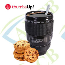 Ceramic Coffee Mug Tea Stainless Steel Camera Lens Shape Cup Keep Warm Mug Gift