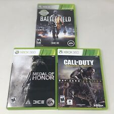 Battlefield 3, Medal of Honor & Call of Duty Advanced Warfare Xbox 360 Lot of 3