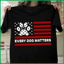 Everydog Matters Dog Paw United States Flag Tshirt