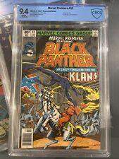 Marvel Premiere #52 CGC 9.4 BLACK PANTHER KEY (Marvel 1980) Newsstand