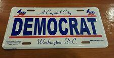 DEMOCRAT Liberal Political Novelty Vanity License Plate Tag