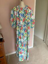 David Brown Saks Fifth Ave Long Dress House Coat Gown Sz M Vintage