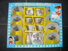 Vintage Toy China Tea Set Boy & Girl New in Original Box Japan