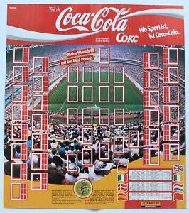 Panini EURO 1988 Deutschland - Coca Cola Poster leer für Ministicker