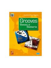 Grooves Basso e Batteria Learn to Play MUSIC BOOK & CD Bass Guitar Percussion