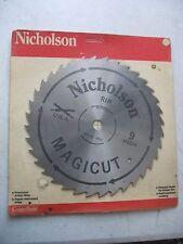"NOS 80512 NICHOLSON 9 ""  RIP CIRCULAR SAW BLADE Made in USA"