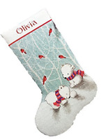 Dimensions Counted Cross Stitch Snow Bears Personalized Christmas Stocking 14