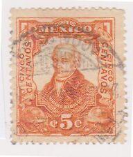 (MCO-109) 1910 Mexico 5c orange HILDARGO (B)