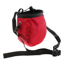 Outdoor Climbing Addict Chalk Bag w/ Adjustable Belt For Rock Climbers Red