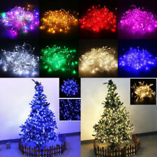 10M 100LED Bulb String Strip Fairy Christmas Xmas Light Waterproof US EU Plug