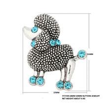 3DCrystal Sheep Charm Snap Button Fit For Noosa Necklace/Bracelet NSKZ122
