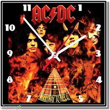 Sveglia da parete, orologio AC/DC rock metal music MDF wall clock wood,bar, pub