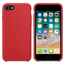 Funda silicona iPhone 7/8 textura suave  Rojo