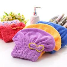 2pcs Women Rapid Fast Drying Towel Dry Hair Cap Soft Thick Absorbent Shower Hat