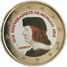 2 euro Monaco 2012 sovranità di Monaco colorata