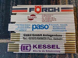 5 x Qualitäts Zollstock 2m Gliedermaßstab mit Werbedruck  Holz
