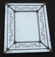 Miroir style Véronese  rectangulaire parecloses et fleurs dorées a l'or