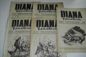 lotto 5 riviste DIANA VENATORIA - 1943/1944 - EDITORIALE OLIMPIA