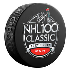 2017 NHL 100 Classic Souvenir Hockey Puck Montreal Canadiens at Ottawa Senators