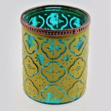 Moroccan Glass Tealight Holder Candle Green Blue Home Lighting Seasonal 24416