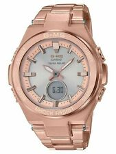 $240 New NWT Casio Women's Baby-G G-MS Rose Gold Tone Watch MSGS200DG-4A