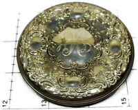 Vintage Towle Sterling Silver Round Repousse Purse Compact Mirror
