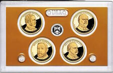 2012 S Presidential Dollars PROOF 4 Coin Set W Box & COA Mint Cleveland Harrison