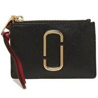 NWT MARC BY MARC JACOBS Mini Compact Wallet Card Case Black Chianti M0013359