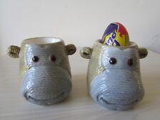 RARE PG TIPS CHEEKY MONKEY CHIMP 2 X EGG CUPS