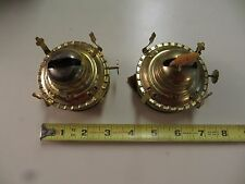2 oil kerosene lamp burners with wick & screw-on collar