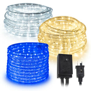 West Ivory 10', 25', 60', 150' ft LED Rope Lights w/8 Mode Controller Extendable