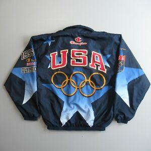 Olympics Windbreaker Jacket Champion USA 1996 Atlanta Vtg Vintage Logo