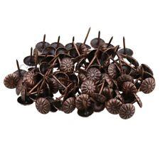 100PCS Vintage Bronze Iron Upholstery Nails Studs Tacks Pins for Furniture Decor