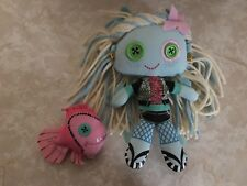 Monster High Friends Plush Rag Doll Lagoona Blue and Neptune Fish Pet 2011 Lot