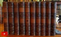 Leather books shelf decoration 1864-71 lot x 10 poetry bindings gilt spines
