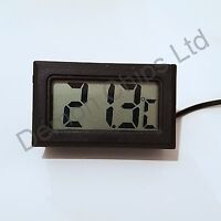 Digital LCD Thermometer Reptile Vivarium Snake Lizard Fish Tank Aquarium