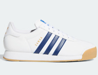 adidas Originals Samoa Vintage Trainers in White and Blue Leather Shoes