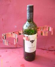1x TRIPLE Wine bottle holder. COPPER PLATED. Caravan/Motor Home/RV/Boat. 320mm L